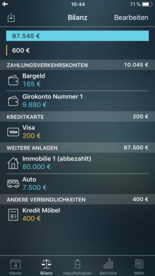 Money Pro Bilanz
